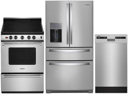 Whirlpool  1010000 Kitchen Appliance Package Stainless Steel, main image