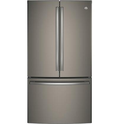 GE  GNE29GMKES French Door Refrigerator Slate, Main Image