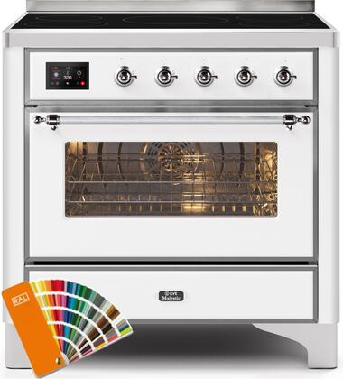 Ilve Majestic II UMI09NS3RALC Freestanding Electric Range Custom Color, UMI09NS3RALC-Front-CD-A
