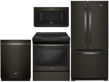 Whirlpool  1010001 Kitchen Appliance Package Black Stainless Steel, main image