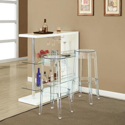 Modway Casper EEI909CLR Bar Stool Transparent, 1