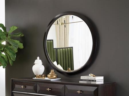 Formosa Collection 222824 40″ Mirror with Coaster   s Exclusive Design  Circular Mirrors Come with Metal Wall Mount Brackets and Wooden Bracket to