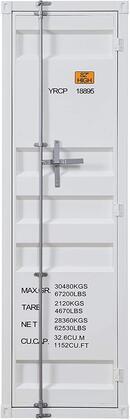 Cargo Collection 35911 Wardrobe (Single Door) in White