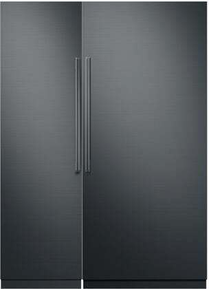 Dacor Modernist 786342 Column Refrigerator & Freezer Set Graphite Stainless Steel, 1