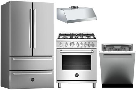 Bertazzoni  1127904 Kitchen Appliance Package Stainless Steel, Main image