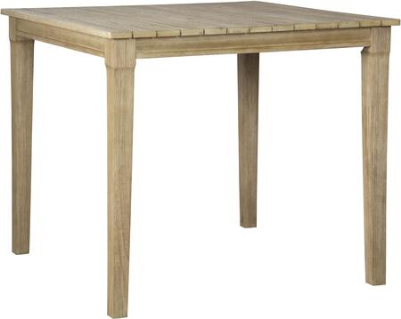 Signature Design by Ashley Clare View P801613 Outdoor Patio Table Brown, Main Image