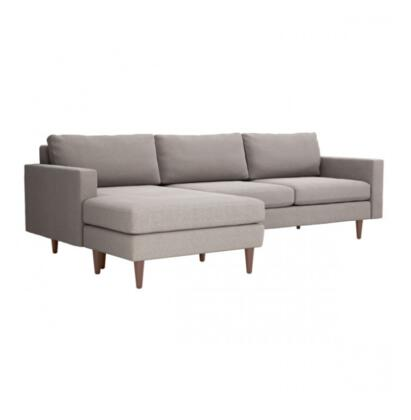 Zuo Kace 101323 Sectional Sofa Gray, 101323 Front