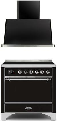Ilve  1260104 Kitchen Appliance Package Black, Main image