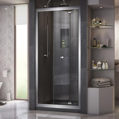 DreamLine DL6214C8801 Shower Door, Butterfly Shower Door Chrome Open Base Black