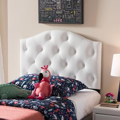 Wholesale Interiors Myra BBT6505WHITETWINHB Headboard White, BBT6505 White Twin%20HB 4