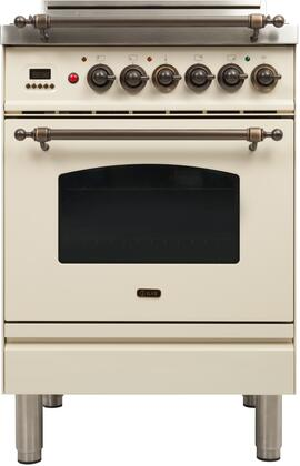 Ilve Nostalgie UPN60DVGGAY Freestanding Gas Range Bisque, UPN60DVGGAY Nostalgie Gas Range