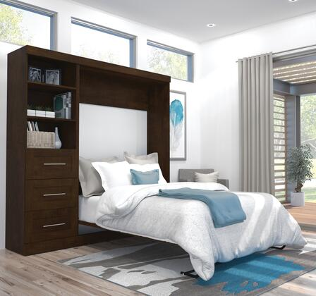 Bestar Furniture 2686869 Bed, bestar pur murphy bed chocolate 26868 69