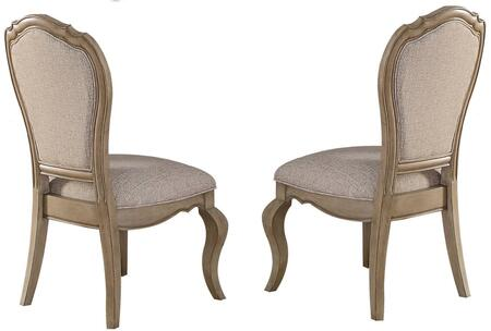 Acme Furniture Chelmsford 66052 Dining Room Chair Beige, Side Chair