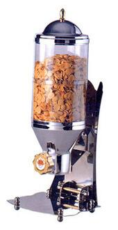 SUNRISE 1 Commercial 1 Cylinder Cereal and Nut Dispenser Tank with Tray  3.6 L (1 gal)