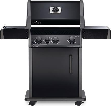 RXT425SIBNK-1 51″ Rogue Series XT 425 SIB Natural Gas Freestanding Grill with 51000 BTU  665 sq. in. Cooking Area  Infrared Side Burner and Cast Iron