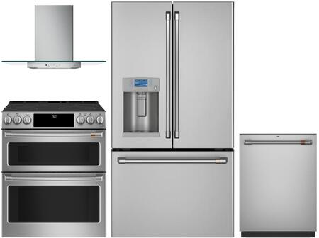 Cafe  1064595 Kitchen Appliance Package Stainless Steel, main image