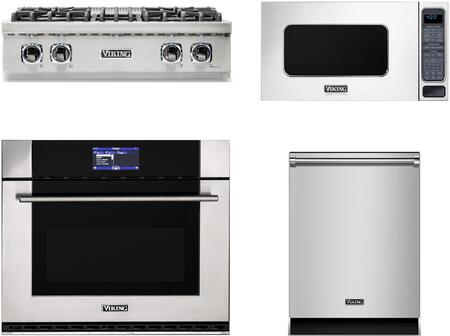 Viking  874168 Kitchen Appliance Package Stainless Steel, main image