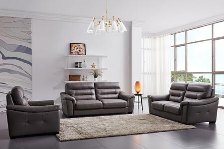 ESF Richmond RICHMOND3LVCH Living Room Set Brown, RICHMOND3-LVCH