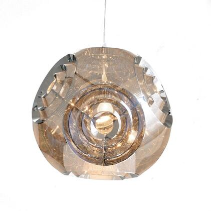 BE05 1-Light Single Pendant Lighting with Stainless Steel Materials and 60 Watts in Chrome