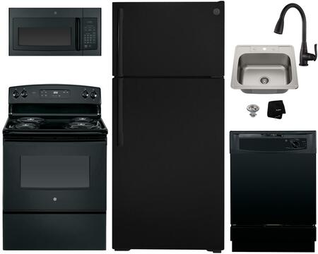 GE  1289723 Kitchen Appliance Package Black, Main image
