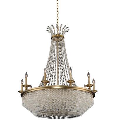 Tavo 033972-044-FR001 10-Light Chandelier in Winter Brass Finish with Firenze