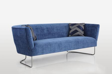 Chintaly Orlando ORLANDOSFA Stationary Sofa Blue, Main Image