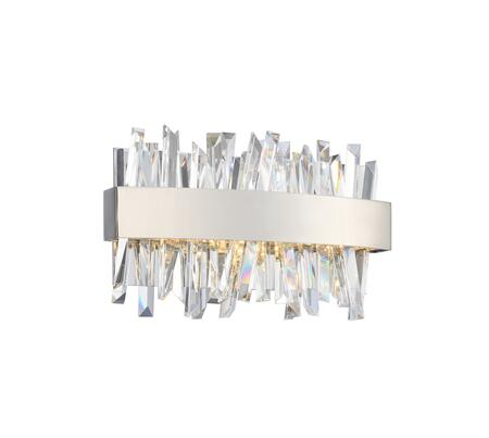 Glacier 030230-010 12″ Bath-Light in Chrome Finish with Firenze Clear