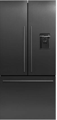 Fisher Paykel  RF170ADUSB5 French Door Refrigerator Black Stainless Steel, Front View