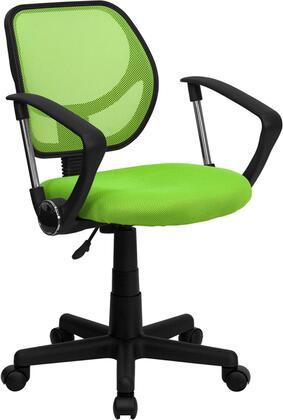 Flash Furniture  WA3074GNAGG Office Chair Green, WA3074GNAGG side