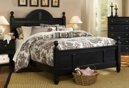 Carolina Furniture Midnight 4378503971900 Bed Black, Main Image