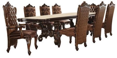 Acme Furniture Versailles 611009TC Dining Room Set Brown, 9 PC Set
