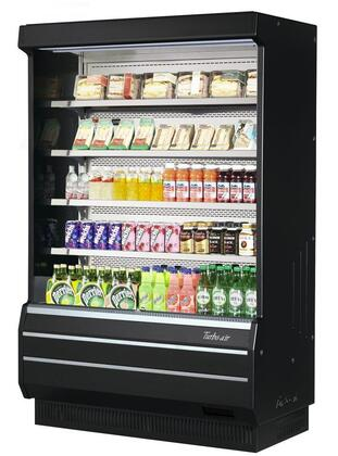 Turbo Air TOM50BSPN Display and Merchandising Refrigerator Black, TOM50BSPN Angled View