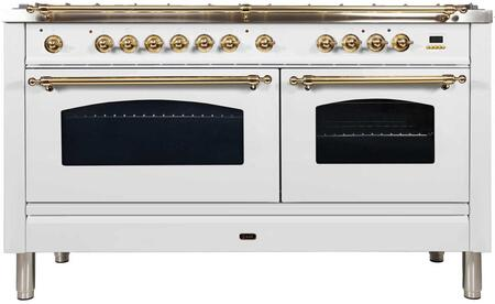 Ilve Nostalgie UPN150FDMPBLP Freestanding Dual Fuel Range White, 1