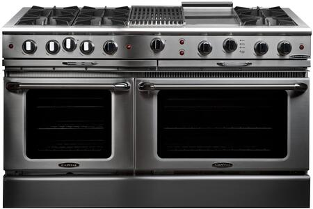Capital Culinarian CGSR604BG2 Freestanding Gas Range Stainless Steel, Burner