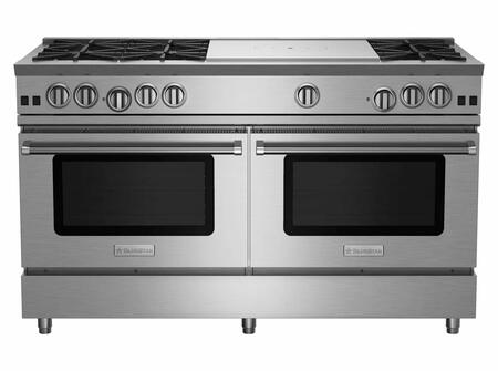 BlueStar RNB Series RNB606FTV2 Freestanding Gas Range Stainless Steel, RNB606FTV2 RNB Series Range