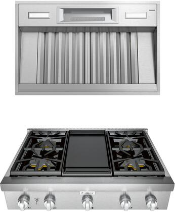 Thermador Professional 1072268 Kitchen Appliance Package Stainless Steel, main image