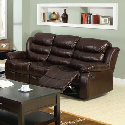 Furniture of America Berkshire CM6551S Motion Sofa Brown, Main Image