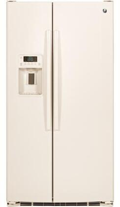 GE GSE25GGHCC Side-By-Side Refrigerator Bisque, Front