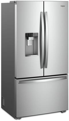 Whirlpool Wrf953cihz 36 Inch Stainless Steel Counter Depth French Door Refrigerator In Stainless Steel Appliances Connection