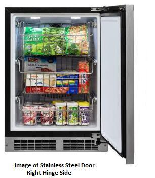 Marvel Professional MP24FAP4LP Upright Freezer Panel Ready, 1
