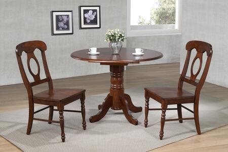 Sunset Trading Andrews DLUADW4242C50CT3PC Dining Room Set Brown, Main Image