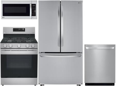 4 Piece Kitchen Appliances Package with LFCC22426S 36″ French Door Refrigerator  LRG3194ST 30″ Gas Range  LDT5678ST 24″ Built In Fully Integrated