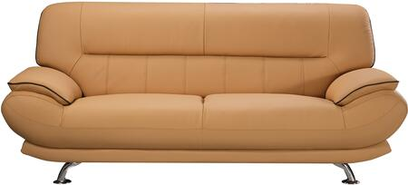 American Eagle Furniture EK-B118 EKB118YOSF Stationary Sofa Yellow, Main Image