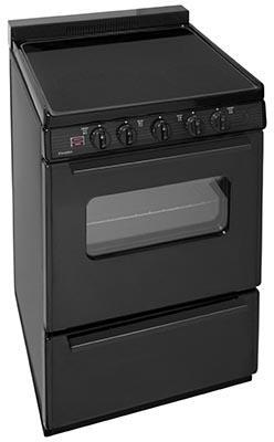 Premier  ECS2X0BP Freestanding Electric Range Black, In Black