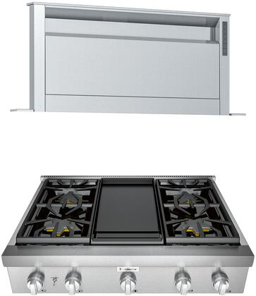 Thermador Professional 1071392 Kitchen Appliance Package Stainless Steel, main image