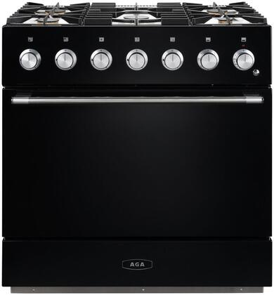 AMC36DF-BLK 36″ Mercury Dual Fuel Natural Gas Range with 4.5 cu. ft. Capacity  Dual Broiler System  5 Sealed Solid Brass Burners  7-mode