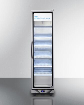 Summit  SCR1104RH Display and Merchandising Refrigerator Stainless Steel, SCR1104RH Commercial Beverage Center