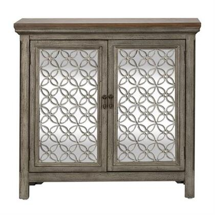 2012-AC3836 Westbridge Series Collection Cabinet White Dusty Wax Finish & Wire Brushed Gray includes 2 Doors  Block Foot  Decorative Overlay In