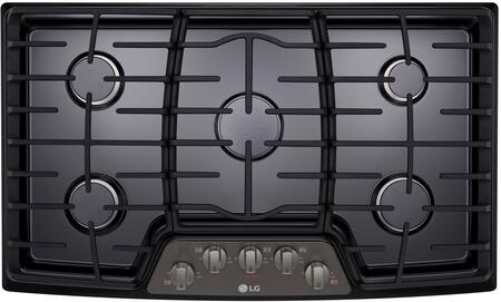 LG LCG3611BD Gas Cooktop Black Stainless Steel, 1