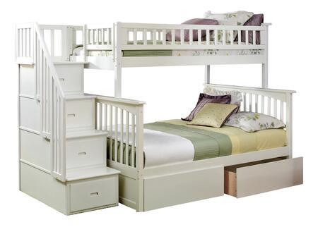 Atlantic Furniture Columbia AB55742 Bed White, AB55742 SILO BD2 30